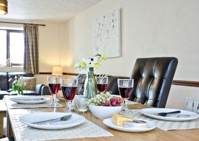 The dining area at Cranny Cottage, East Thorne, Kilkhampton