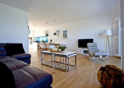 The living area at Crest@64, Newquay
