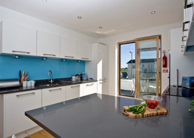The kitchen at Crest@64, Newquay