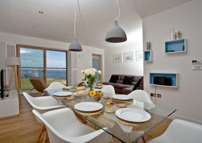 The dining area at Crest@64, Newquay