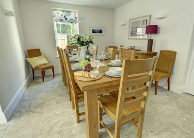 The dining room at Croyde Country House, Croyde