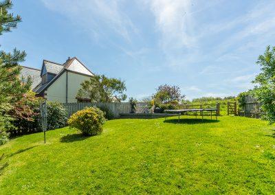 The garden at Curlew's Cwtch, Roserrow, Polzeath