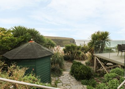 The garden at Cutty Sark, Mawgan Porth