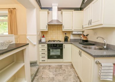 The kitchen at Daisy Chain Cottage, Hersham