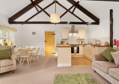 The living area at Daisy Cottage, Old Mill Cottages, Marldon