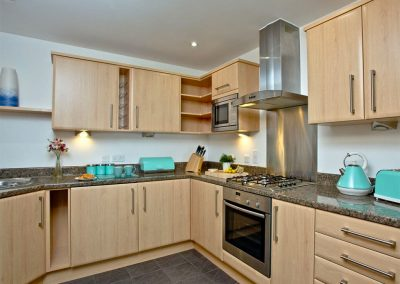 The kitchen at Dame's Violet, 32 Bredon Court, Newquay