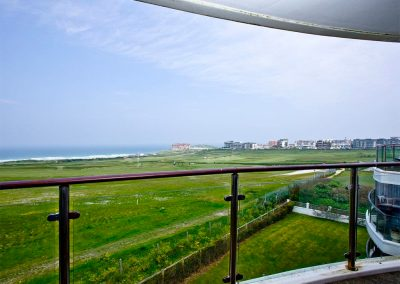 The view from Dame's Violet, 32 Bredon Court, Newquay