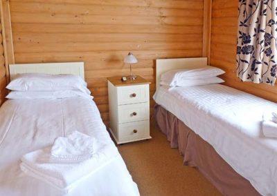 Bedroom #2 at Dartmoor Edge Lodge, Tedburn St Mary