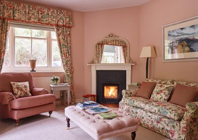 Apartment living area at Dartmoor Tea House, Belstone