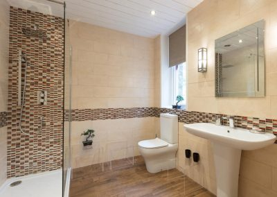 Apartment bathroom at Dartmoor Tea House, Belstone
