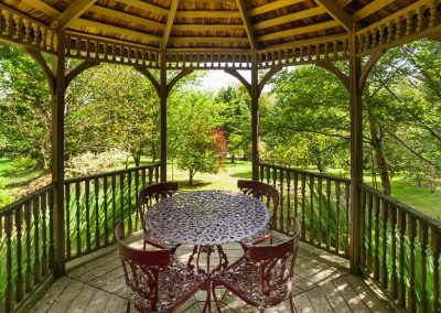 The gazebo at Dartmoor Tea House, Belstone