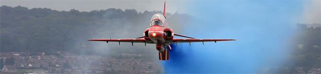 Take your seats on Dawlish Beach and enjoy a grandstand view of some fantastic displays by the RAF, skydiving and helicopters at the Dawlish Airshow.