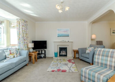 The living area at Devon Retreat, Paignton