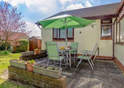 The patio at Devon Retreat, Paignton