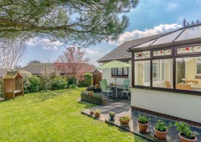 The patio & garden at Devon Retreat, Paignton