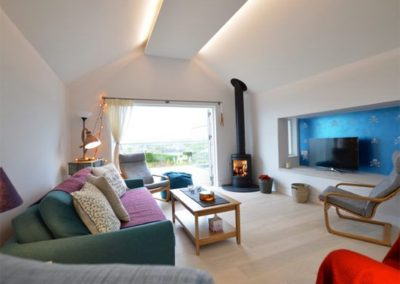 The living area at Dinas View, Constantine Bay