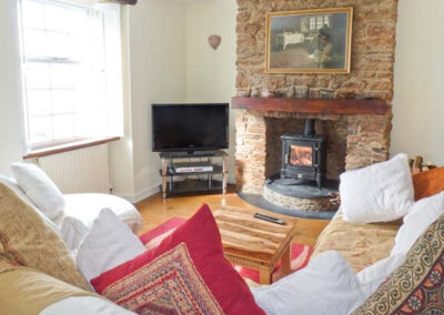The living area at Dipley Cottage, Brixham