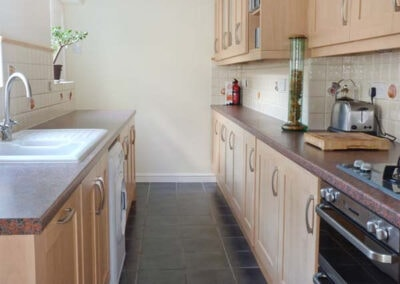 The kitchen at Dipley Cottage, Brixham