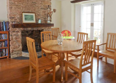 The dining area at Dipley Cottage, Brixham