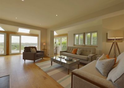 The living area at Dove Cottage, Dittisham