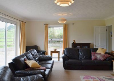 The living area at Downhams Farm, Woodbury Salterton
