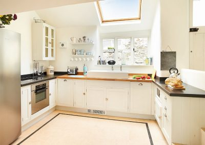 The kitchen at Downsteps Beach House, Torcross