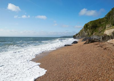 At Downsteps Beach House, Torcross you can stroll out onto your own shingle beach