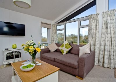 The living area at Drake Lodge, Lakeview Manor, Dunkeswell