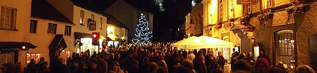 Dunster by Candlelight is a magical event held the 1st Friday & Saturday in December. Join in the fun at this quintessential mediaeval village in Somerset.