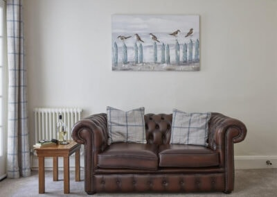 The living area at East Hill Cottage, Parracombe
