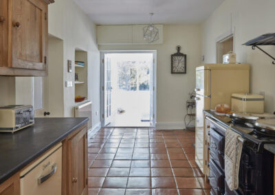 The kitchen at East Hill Cottage, Parracombe