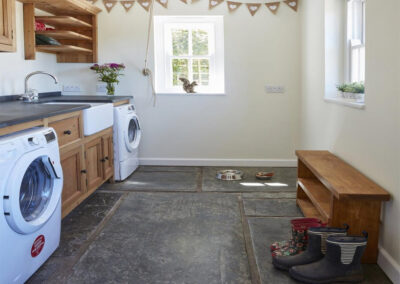 The utility room at East Hill Cottage, Parracombe