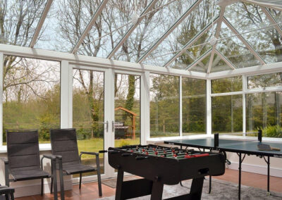The conservatory at East Hill Cottage, Parracombe