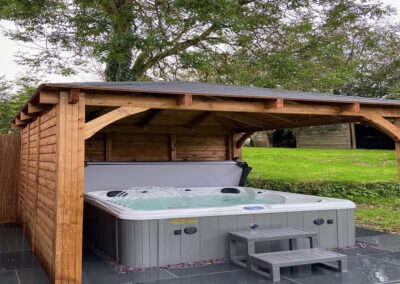 The hot tub at East Hill Cottage, Parracombe