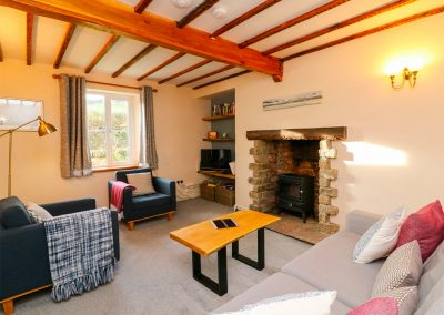 The living area at Easter Cottage, Berrynarbor