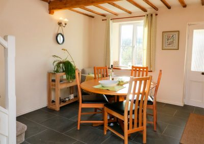 The dining area at Easter Cottage, Berrynarbor