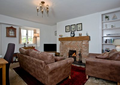 The living area @ Elberry Cottage, Brixham