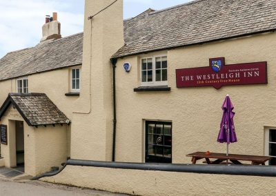 The Westleigh Inn village pub is just a moment's stroll from Elm Cottage, Westleigh