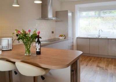 The kitchen at Estuary View, Hulham