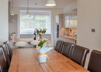 The dining area at Estuary View, Hulham