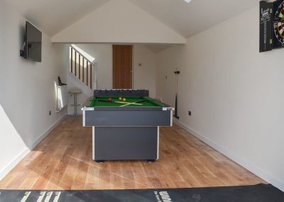 The games room at Estuary View, Hulham
