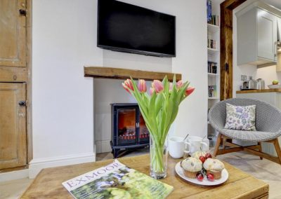 The living area at Exmoor Cottage, Lynmouth