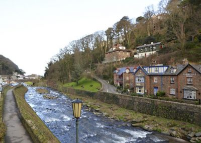 Exmoor Cottage, Lynmouth overlooks the river below and is within easy walking distance of the beach