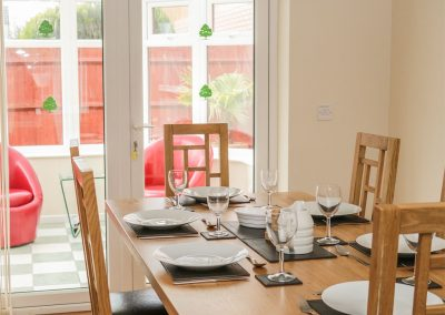 The dining area at Fairways, Woolacombe