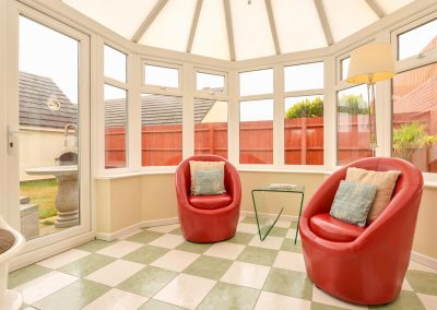 The conservatory at Fairways, Woolacombe