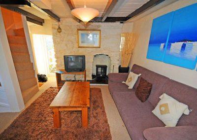 The living area @ Farthing Cottage, Brixham