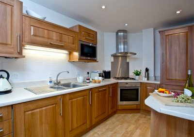 The kitchen at Fistral View, 14 Bredon Court, Newquay