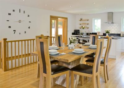 The dining area at Florina, Horselake Farm Cottages, Cheriton Bishop