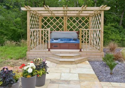 The hot tub at Florina, Horselake Farm Cottages, Cheriton Bishop