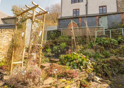 The terraced garden at Florries, Barbrook